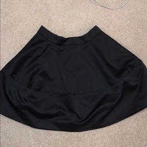 Gorgeous Black Satin Circle Skirt H&M